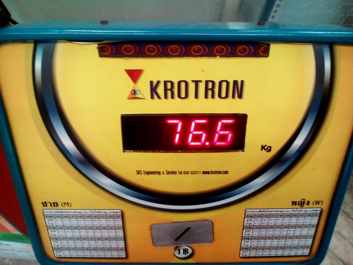 Вес 76,6 кг