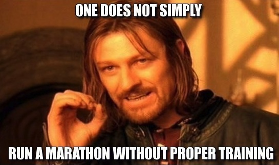 one does not simply run marathon