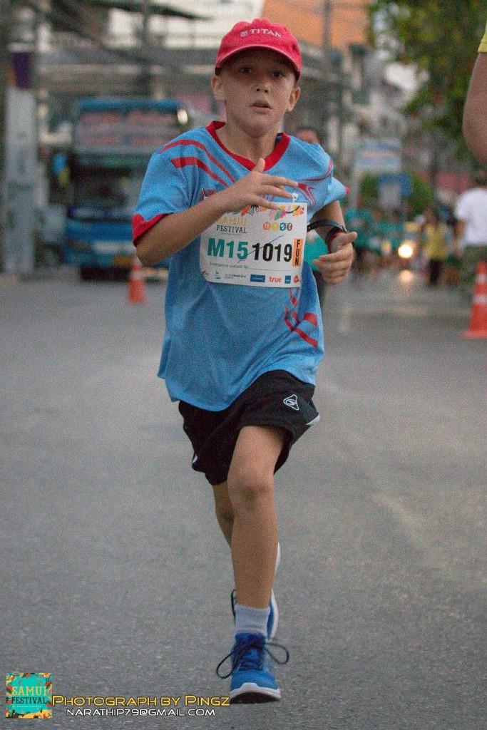 Арсений на дистанции 3,5 км